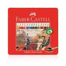 [파버카스텔]일반색연필 24색 틴케이스(115845)