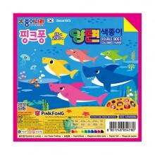 종이나라 핑크퐁 20색 200매 양면 색종이