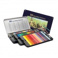 문화 고급 색연필 100칼라 틴케이스 프리미엄
