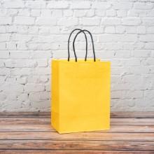 옐로우 트위스트백 1호 180x110x235mm 종이가방 쇼핑백