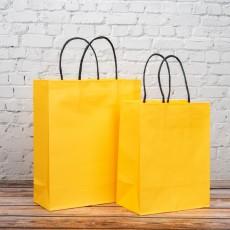 옐로우 트위스트백 1호 10개입 180x110x235mm 종이가방 쇼핑백