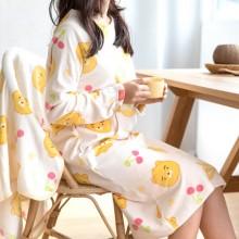 카카오 리틀프렌즈 수면원피스 아이보리/핑크