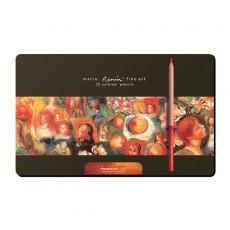 마르코 르누아르 유성색연필 72색 틴케이스