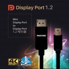 팬톤 MINI DP TO DP 케이블 4K 3.0M