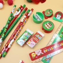 크리스마스 문구세트 연필/지우개/연필깎이/자