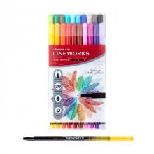 라인플러스 라인웍스 화인라이너 20색 세트 0.3mm