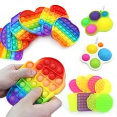 레인보우 푸시팝 푸쉬 팝잇 무한뽁뽁이 버블 장난감