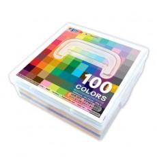 종이나라 단면색종이 500매 100색 케이스