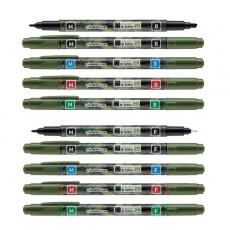 라인플러스 물로 지우는 수성 OHP 펜